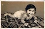 1980: Chandni nur ein paar Monate alt...