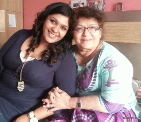 February 2014: Chandni with her Guru Saroj Khan