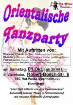 Poster Orientalische Party mit Chandni Oktober 2011