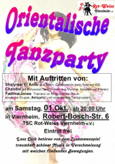 Poster Orientalische Party mit Chandni Oktober 2011