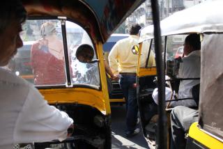 Auto Rikscha's vor Bandra (Mumbai)