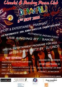 Am 5. November in Frankfurt - Diwali Gala Abend mit Gesang, Tanz und Kinderunterhaltung